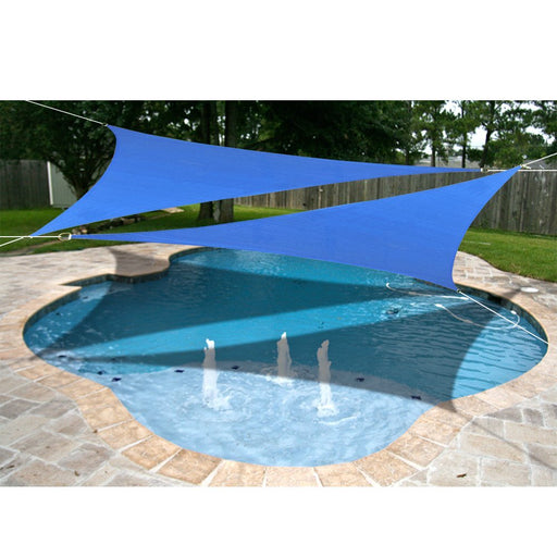 Custom Size (10' x 10' x 10') Triangle HDPE Sun Shade Sail with 6'' Stainless Steel Hardware Kit - Variant Colors