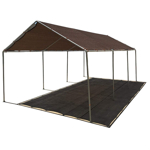 Carport Replacement Permeable Sun Shade Cover (Frame Not Included) - Dark Brown *LISTED SIZES ARE NOT CARPORT SIZE*