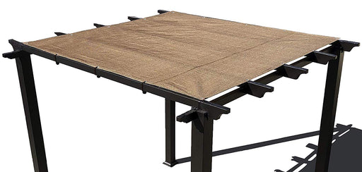 HDPE Pergola / Patio Cover Panel w/ 4 side hems and grommets  - Walnut