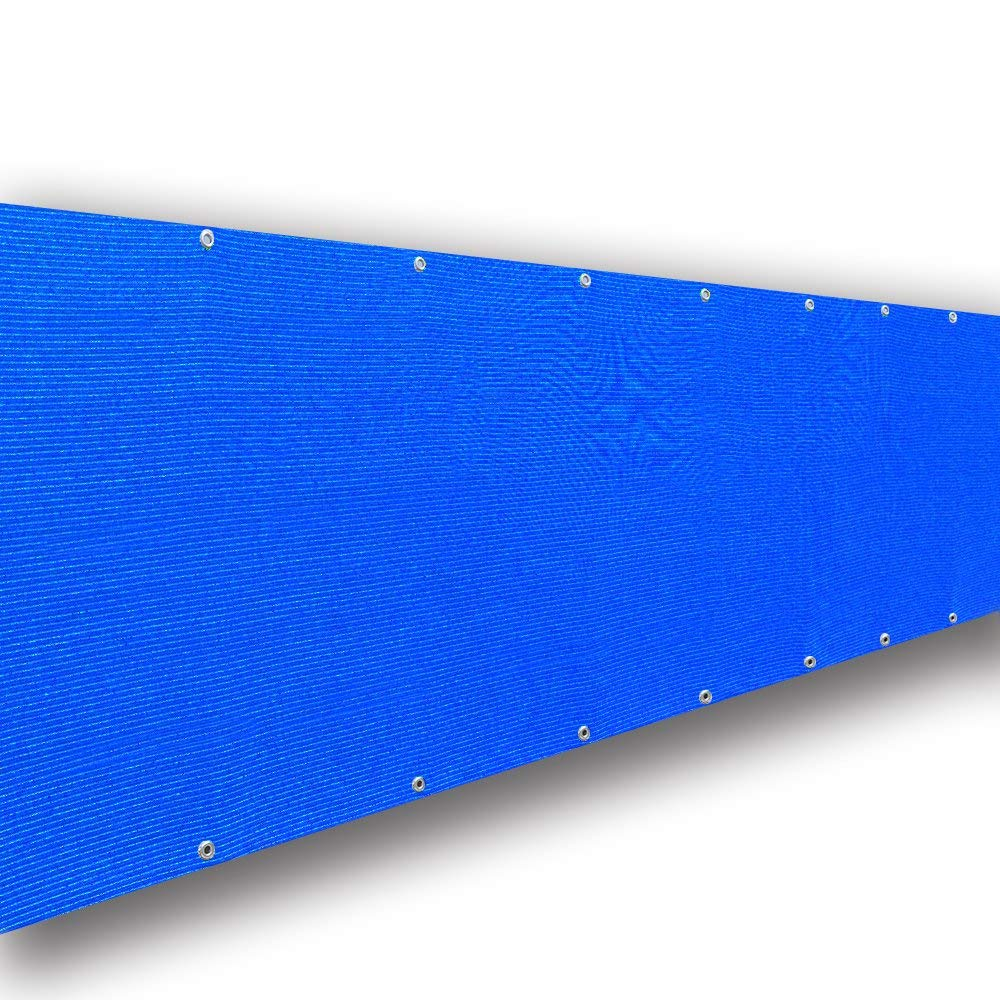Custom Elegant Privacy Screen Windscreen Mesh - Blue