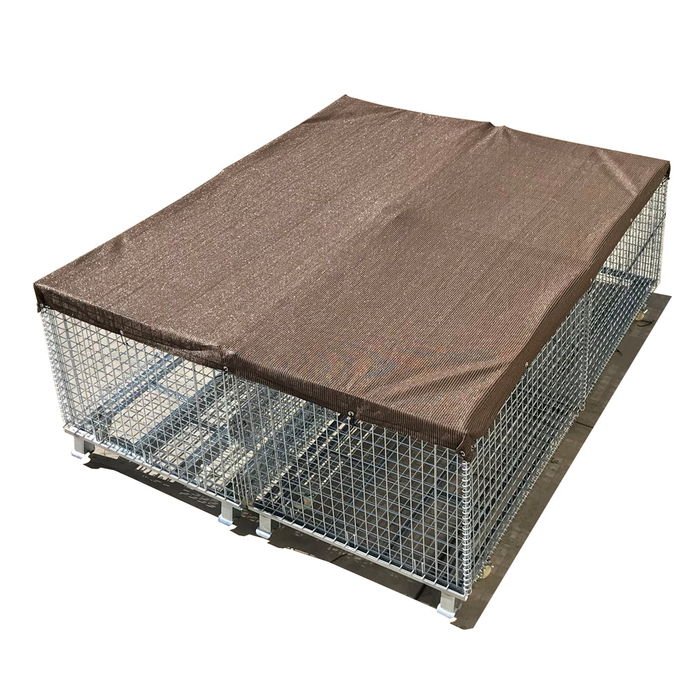 Sun Block Dog Run & Pet Kennel Shade Cover (Dog Kennel not Included) - Mocha Brown