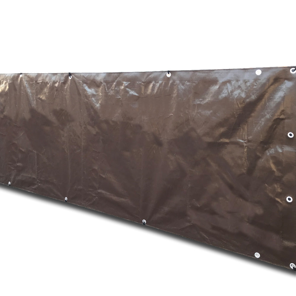 Custom Sizes Heavy Duty Tarp - Brown