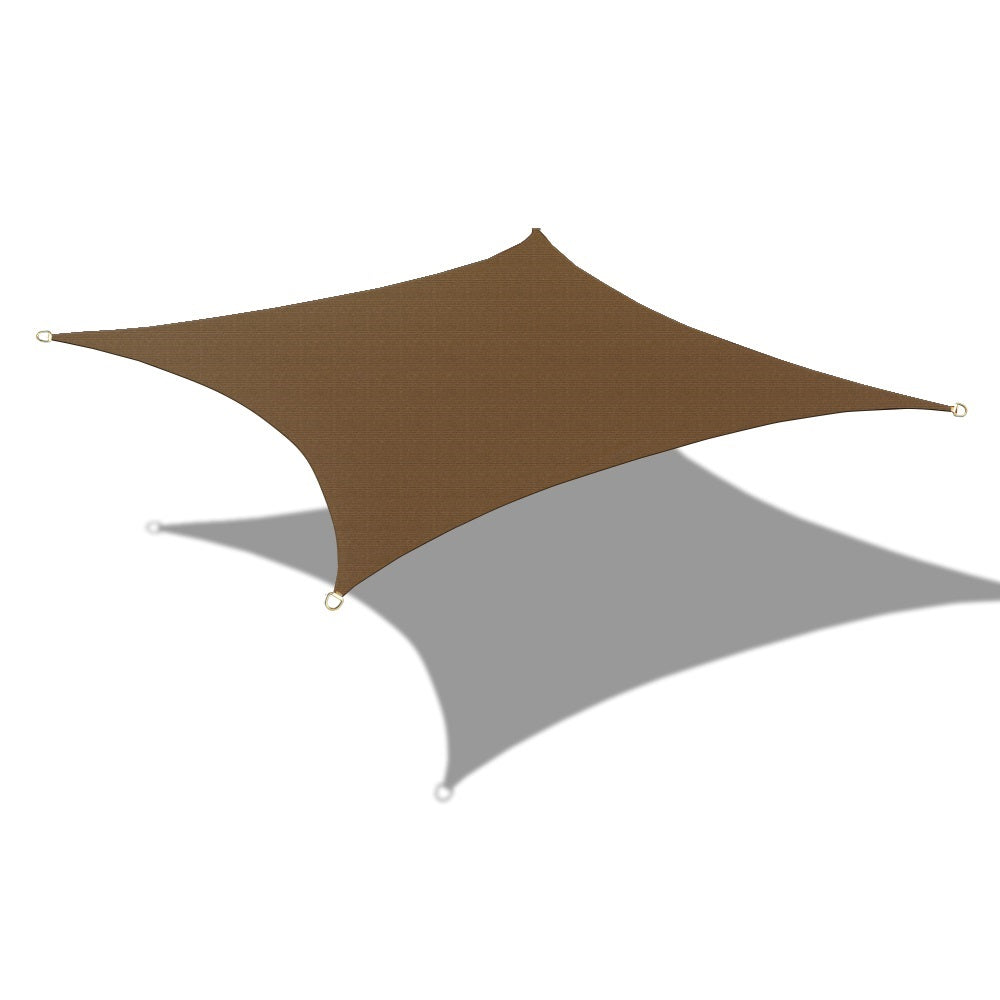Custom Sizes HDPE Curved Edge Sun Shade Sail - Mocha Brown