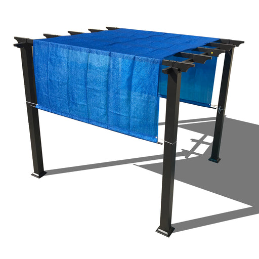 HDPE Sun Shade Rod Pocket Panel for Pergola - Royal Blue (Pergola Not Included) *Rod Pockets on the Width (Length x Width)*
