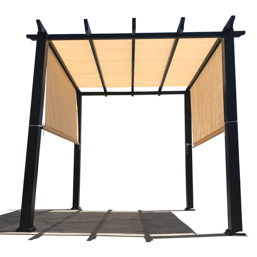 HDPE Sun Shade Rod Pocket Panel for Pergola - Banha Beige (Pergola Not Included) *Rod Pockets on the Width (Length x Width)*