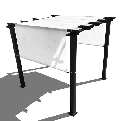 HDPE Sun Shade Rod Pocket Panel for Pergola - White (Pergola Not Included) *Rod Pockets on the Width (Length x Width)*