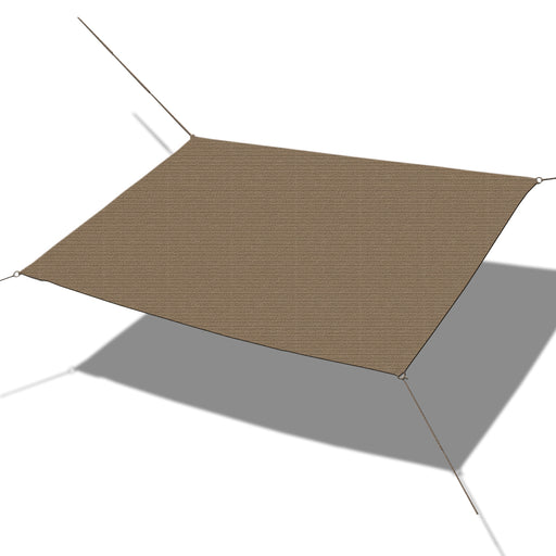 Custom Sized Straight Edge Sun Shade Sail - Mocha Brown