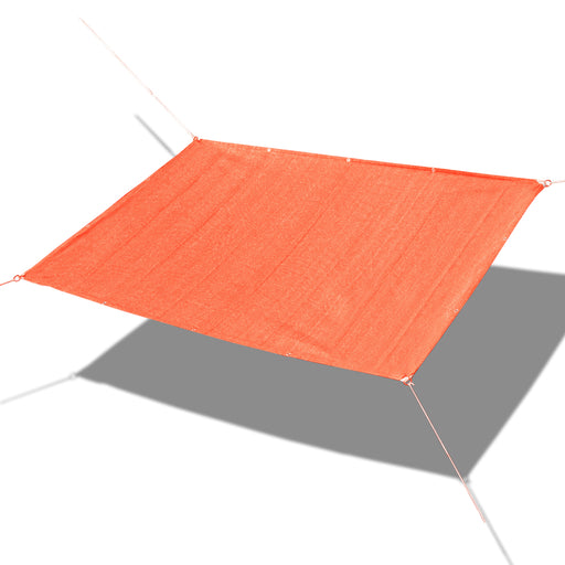 Custom Sized Straight Edge Sun Shade Sail - Terracotta Red