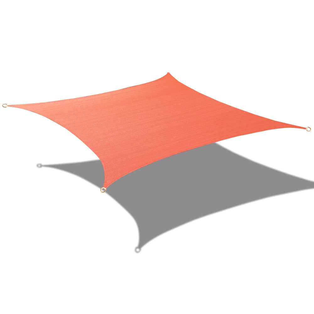(9 ft 10 in Square) HDPE Sun Shade Sail - Terracotta Red