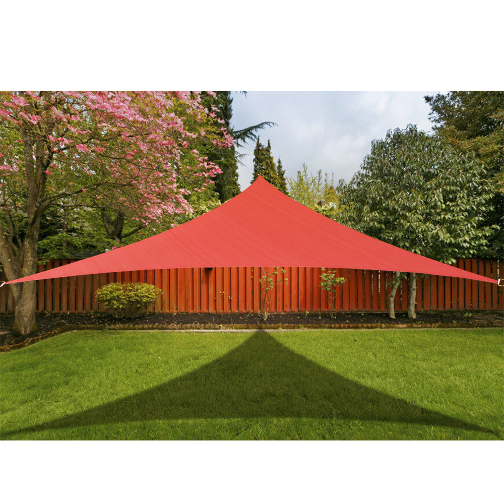 (12ft x 12ft x 12ft) Custom HDPE Sun Shade Sail - Rust Red