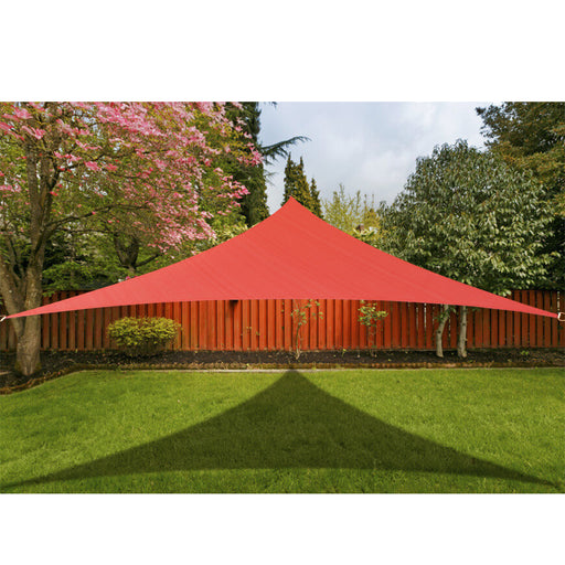 Custom Size (12ft x 12ft x 12ft) Custom HDPE Sun Shade Sail - Rust Red