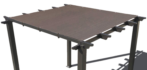 HDPE Pergola / Patio Cover Panel w/ 4 side hems and grommets - Mocha