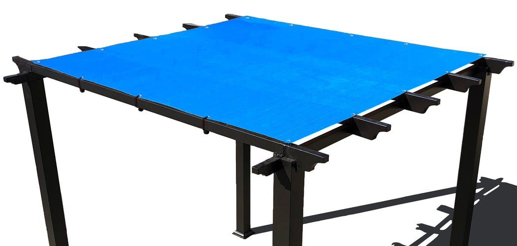HDPE Pergola / Patio Cover Panel w/ 4 Side Hems & Grommets - Blue