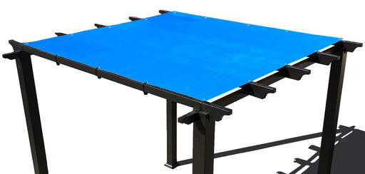 HDPE Pergola / Patio Cover Panel w/ 4 side hems and grommets - Blue
