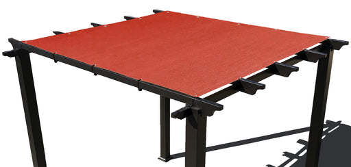 HDPE Pergola / Patio Cover Panel w/ 4 side hems and grommets - Rust Red