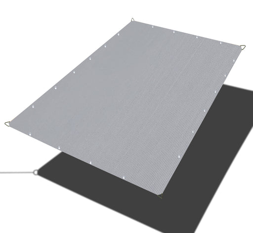 Custom Sized HDPE Straight Edge Sun Shade Sail - Grey