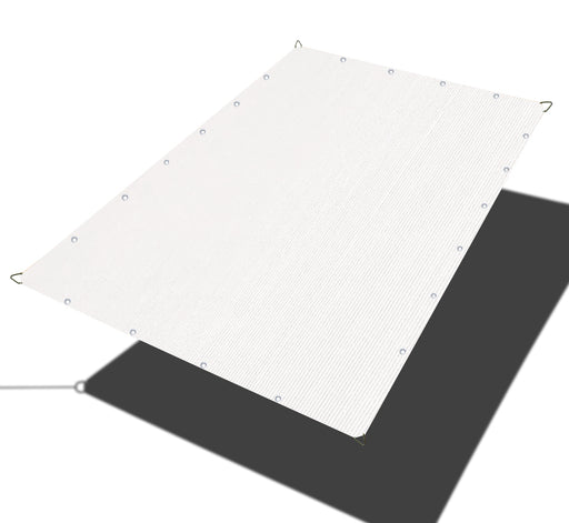Custom Sized Straight Edge Sun Shade Sail - White