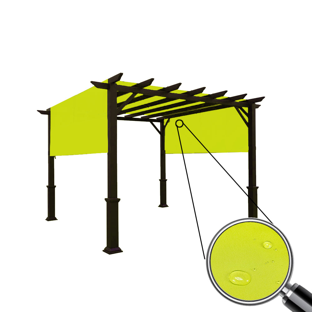 Custom Sizes Rod Pocket Waterproof Universal Replacement Shade Canopy Top Cover for Pergola - Pear Green (Pergola Not Included) *Rod Pockets on the Width (Length x Width)*