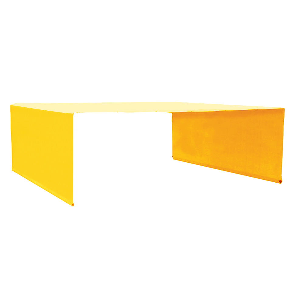 Custom Sizes Rod Pocket Waterproof Universal Replacement Shade Canopy Top Cover for Pergola - Mango Yellow (Pergola Not Included) *Rod Pockets on the Width (Length x Width)*