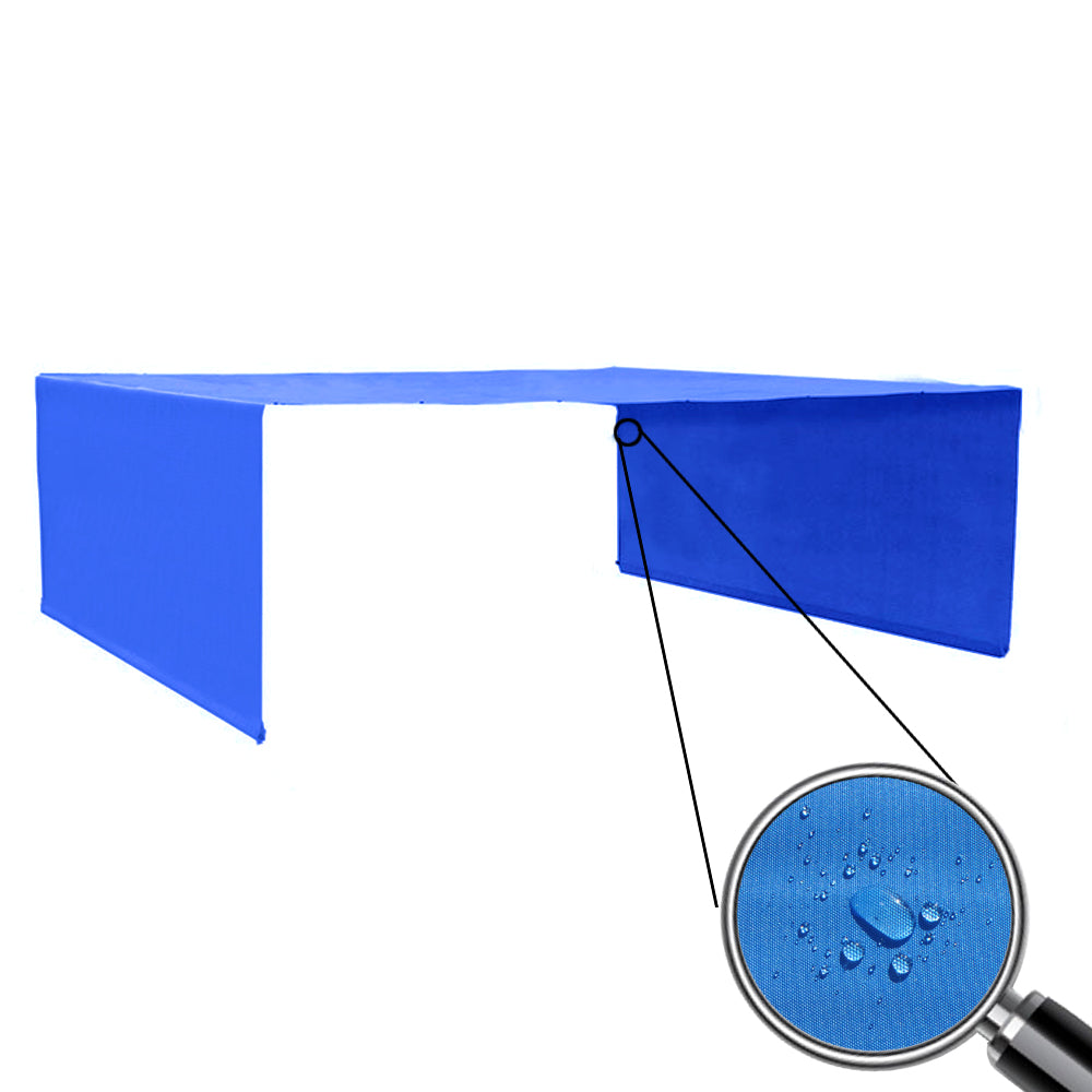 Custom Sizes Rod Pocket Waterproof Universal Replacement Shade Canopy Top Cover for Pergola - Royal Blue (Pergola Not Included) *Rod Pockets on the Width (Length x Width)*