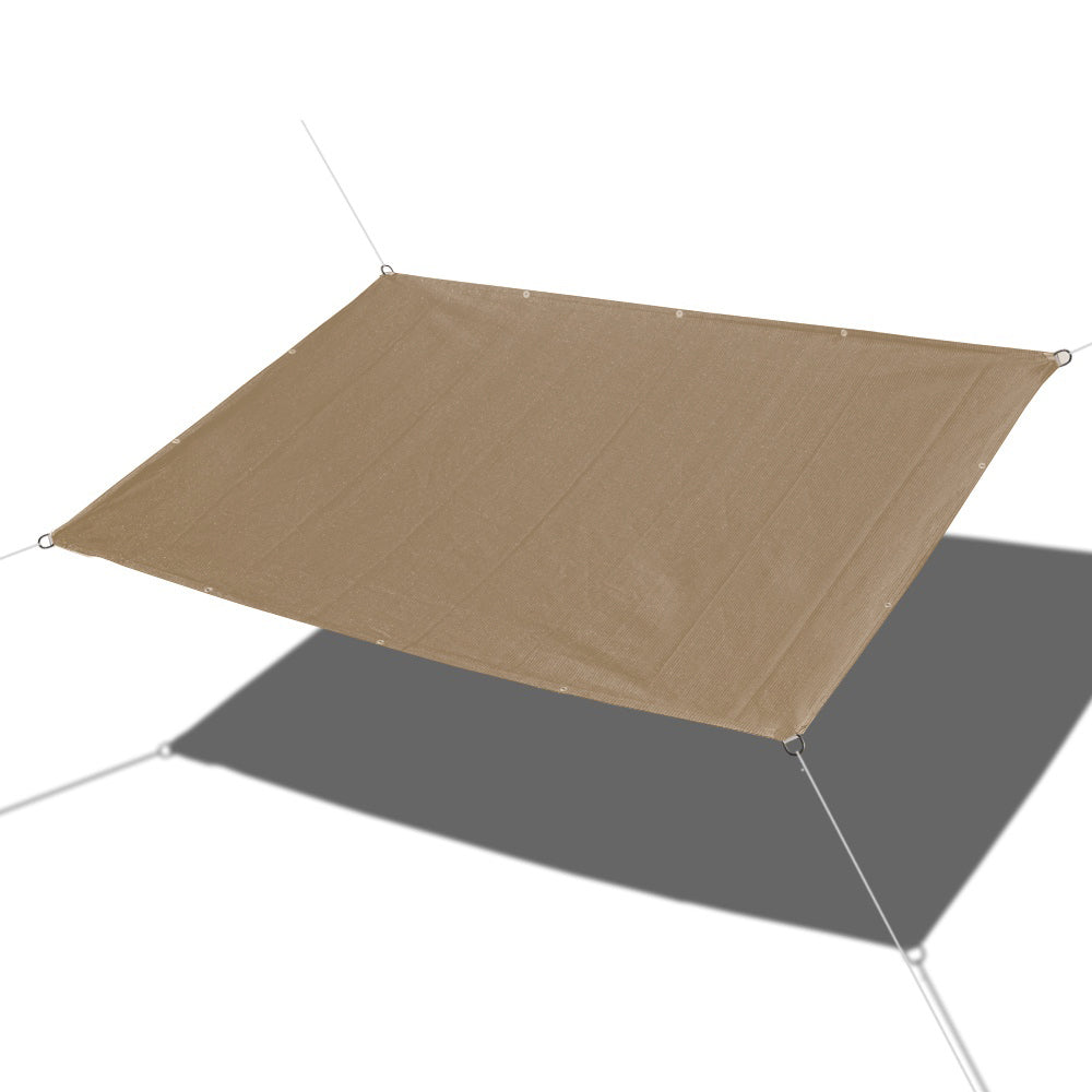 Custom Straight Edges HDPE Sun Shade Sail - Walnut