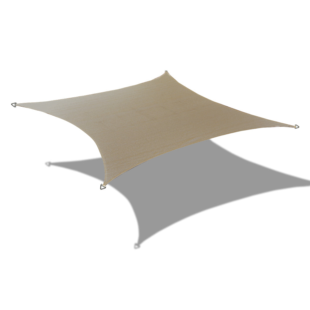 (9.5ft x 11ft) Rectangular Waterproof Woven Sun Shade Sail - Vibrant Colors