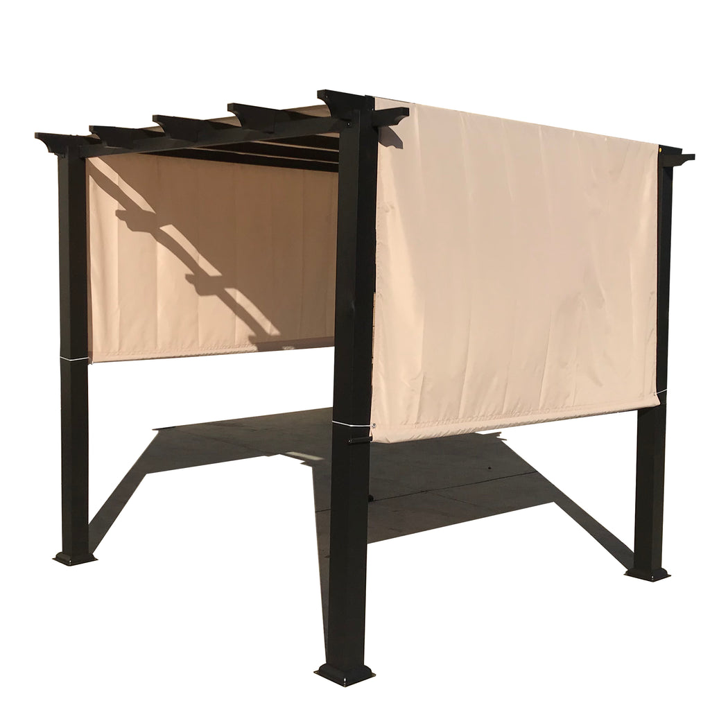 Custom Sizes Rod Pocket Waterproof Universal Replacement Shade Canopy Top Cover for Pergola - Beige (Pergola Not Included) *Rod Pockets on the Width (Length x Width)*
