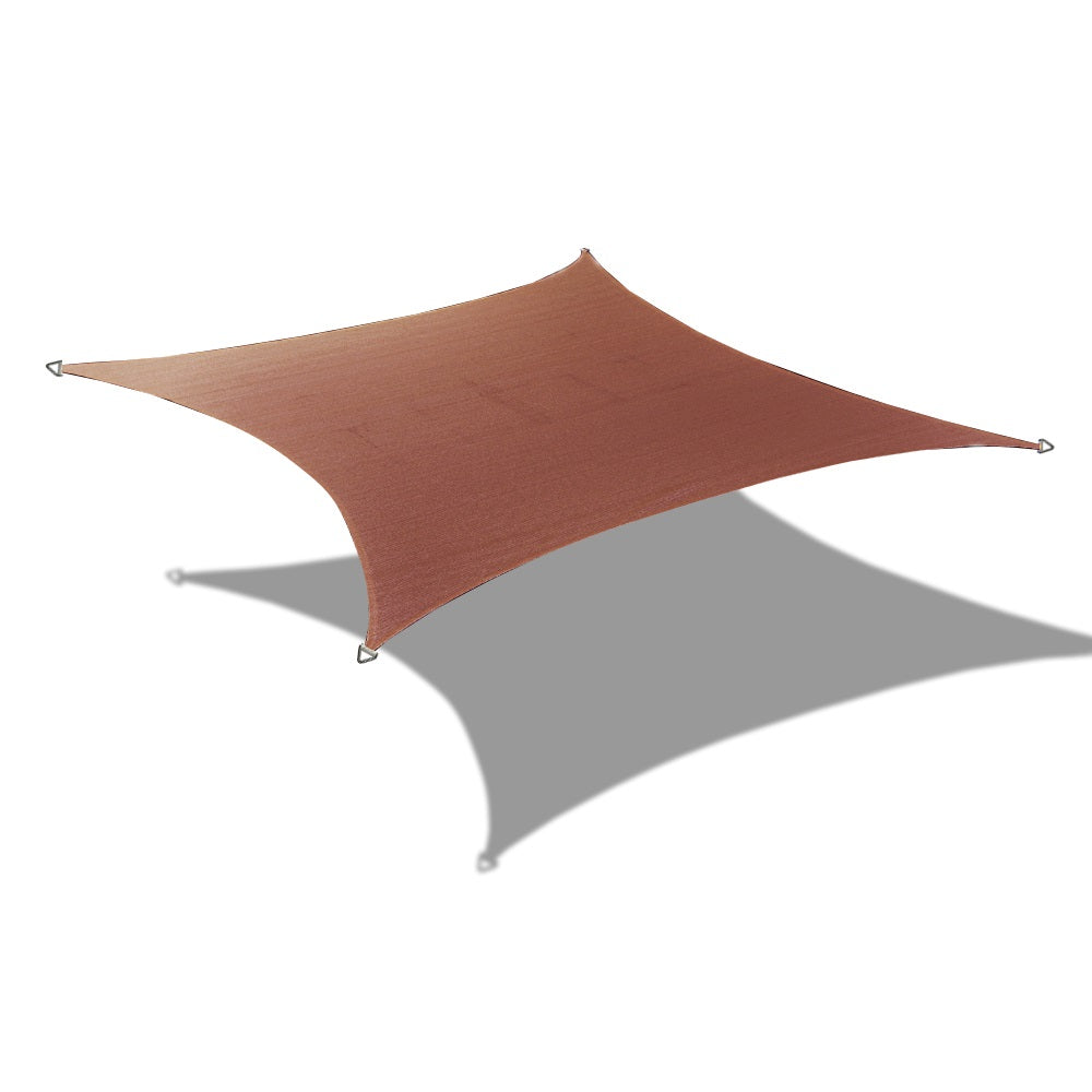 (6ft x 10ft) Rectangle Waterproof Woven Sun Shade Sail - Vibrant Colors