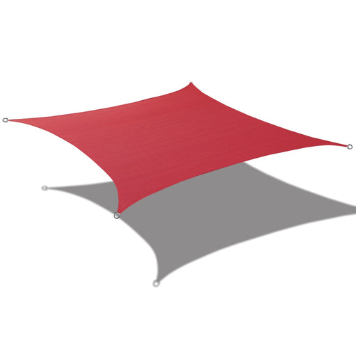 (7.5ft x 12ft) Square Waterproof Woven Sun Shade Sail - Vibrant Colors