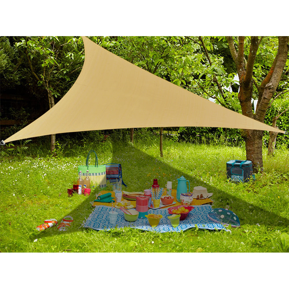 (16'5'' x 16'5''x 16'5'') Triangle Waterproof Woven Sun Shade Sail in Vibrant Colors