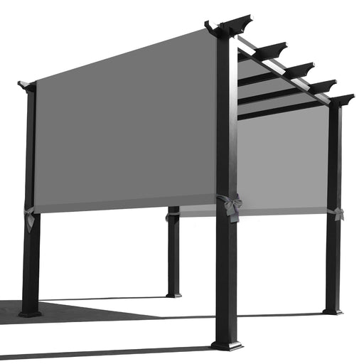 Custom Sizes Rod Pocket Waterproof Universal Replacement Shade Canopy Top Cover for Pergola - Grey (Pergola Not Included) *Rod Pockets on the Width (Length x Width)*