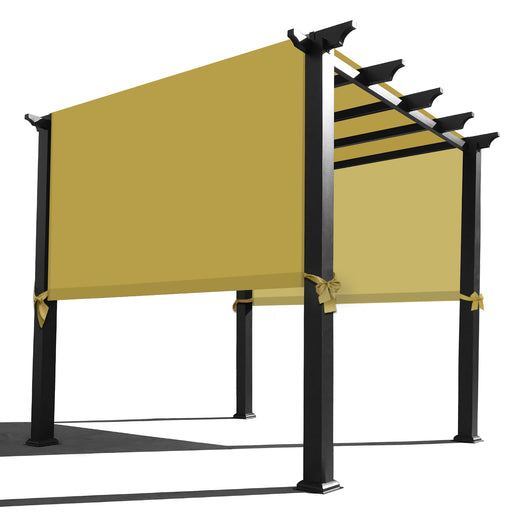 Custom Sizes Rod Pocket Waterproof Universal Replacement Shade Canopy Top Cover for Pergola - Desert Sand (Pergola Not Included) *Rod Pockets on the Width (Length x Width)*