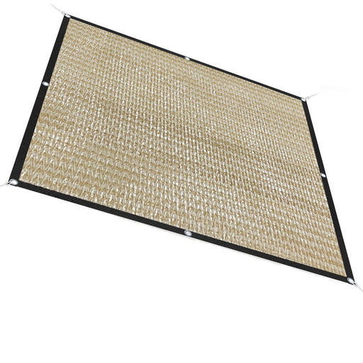 50% Sun Block Garden Netting Mesh - Beige w/Black Trim