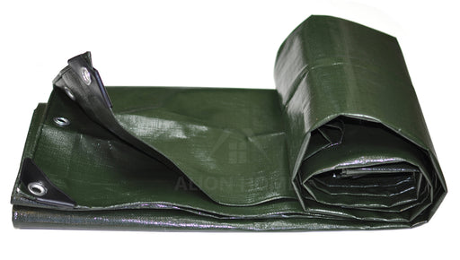Alion Home Heavy Duty 12 Mil Poly Tarps - Dark Green