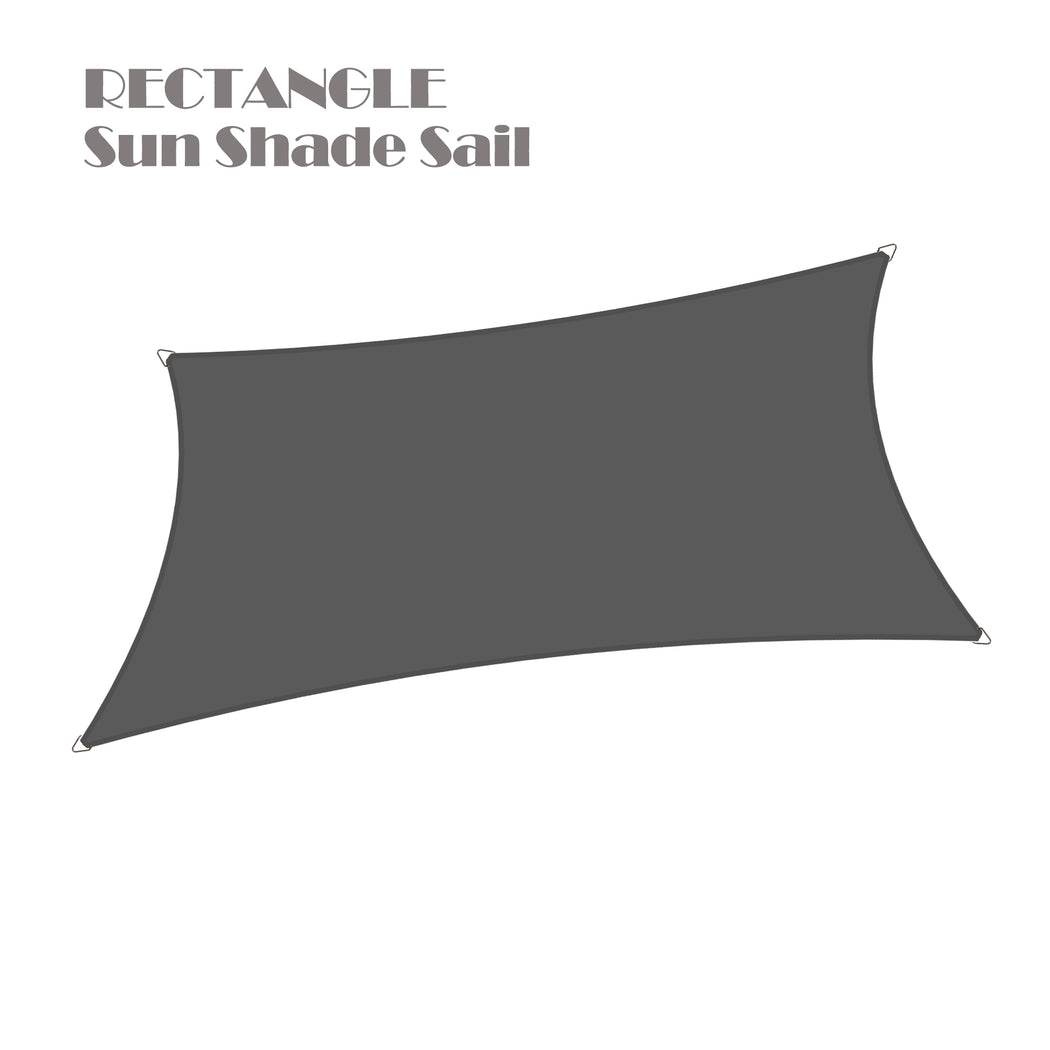 (8ft x 12ft) Rectangular Waterproof Woven Sun Shade Sail - Vibrant Colors