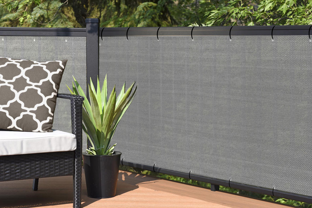 Custom Size (30in Tall) Custom Length Privacy Screen - Grey