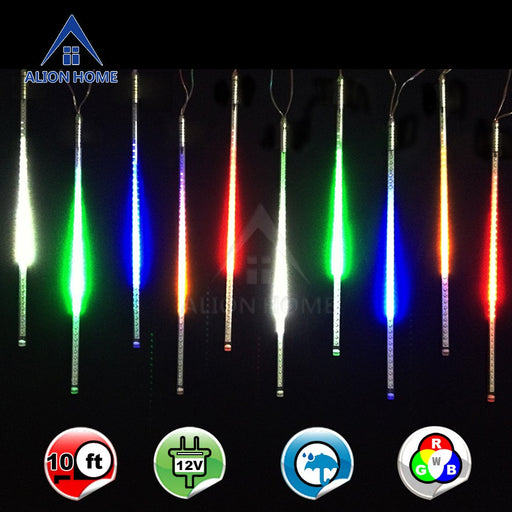 Multicolor Meteor Rain Light Tubes SMD 3528 Chip 600 LED - 10ft Length (10) 18 Inch Light Tubes
