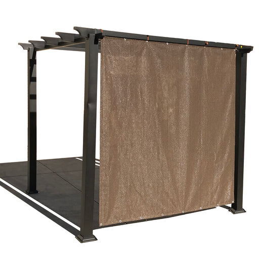 Custom Sized Shade Panel (2 Sides Hemmed w/Grommets) - Mocha Brown