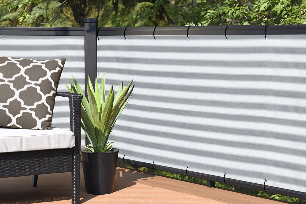 Beige 7FT 180GSM Fence Windscreen Privacy Screen Shade Cover Fabric Mesh Garden