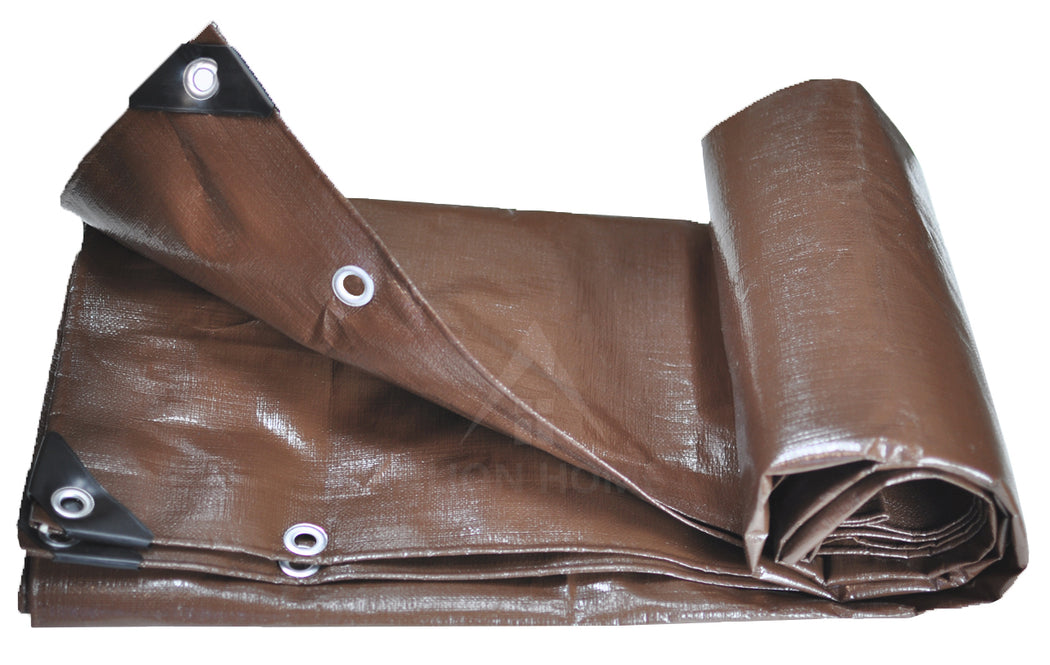 Alion Home Heavy Duty 12 Mil Poly Tarps - Brown