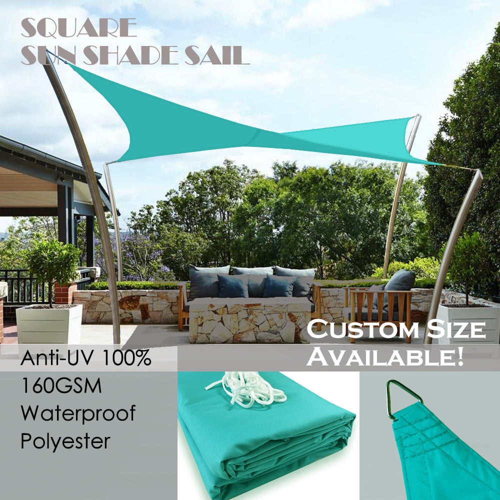 (10ft x 13ft) Rectangular Waterproof Woven Sun Shade Sail - Vibrant Colors