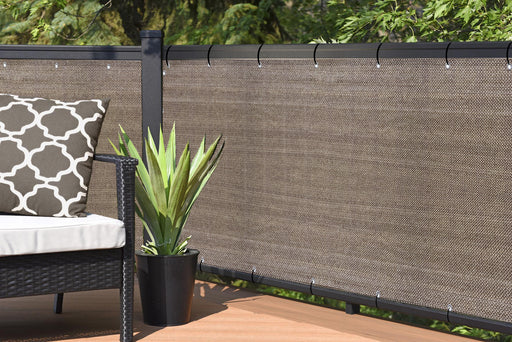 Custom Sizes Elegant Privacy Screen - Walnut