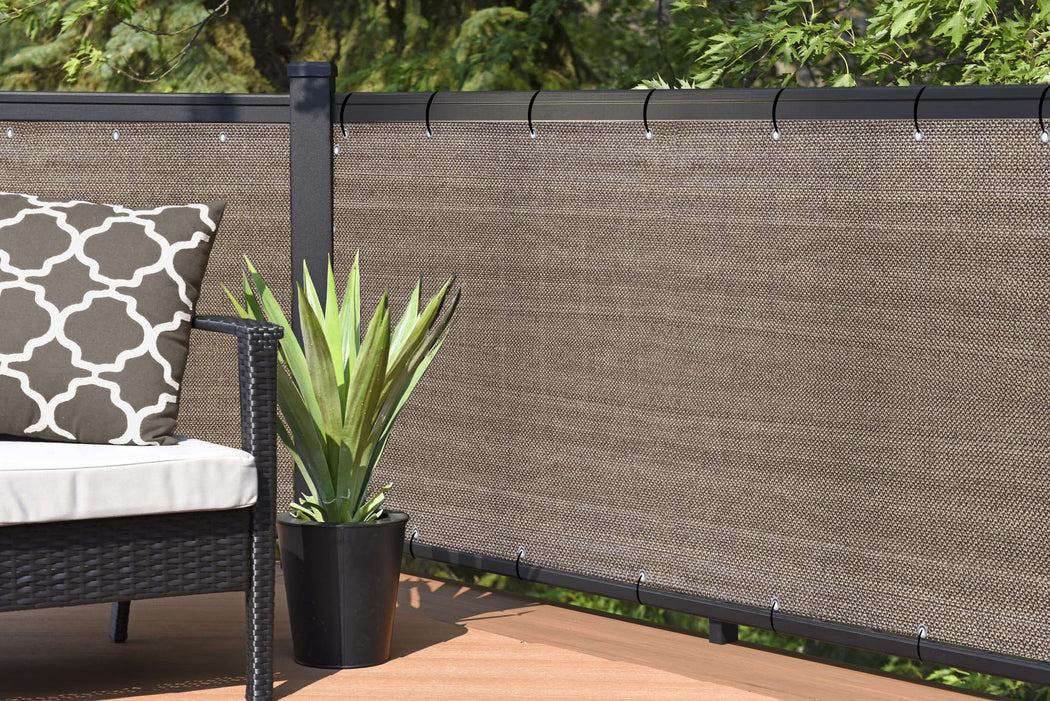 Custom Size (4ft Tall) Custom Length Privacy Screen - Walnut