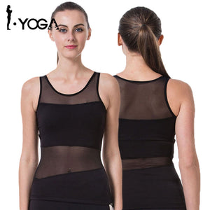Yoga T-Shirt Woman Sleeveless Yoga Tank Tops Sports Fitness Shirt Women Quick Dry Running Shirts