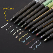 10 colors Metallic Marker Pen Soft Brush Pen Set