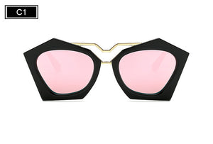ROYAL GIRL Women Double Nose Geometry Cat Eye Glasses High Quality Women Clear Glasses SS949