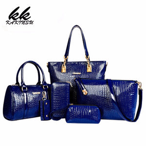 6 Set Luxury Handbags Leather