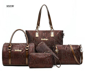 Leather Handbag 5 Sets Ladies Handbags