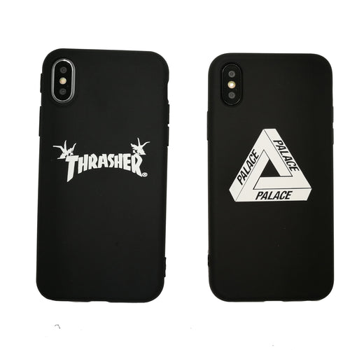 For Iphone 5 5s Se 6 6plus 6s Plus 7 7plus 8 X Case Fashion Tide Brand Soft Tpu Sports Champion Palace Thrasher Phone Cover Capa