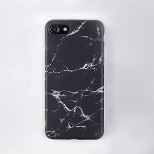 Marble Stone Gel Case for Apple iPhone 7 6s 6 8 Plus 5 5s SE X 10 Cases Black White Soft Tpu Squishy phone Case Cover Coque